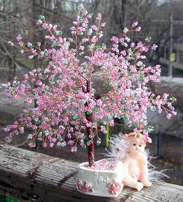 Мастер класс бисероплетение дерево сакуры.