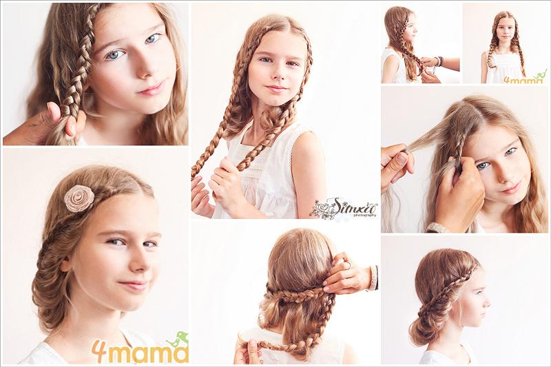Красивая и простая прическа для девочки на длинные волосы своими руками 256