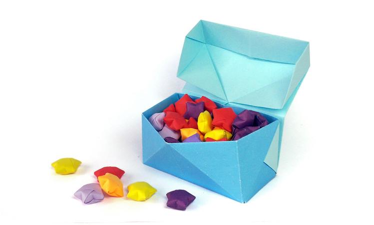 Оригами: Коробочка с крышкой