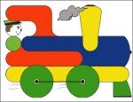 поезд (мозайка)