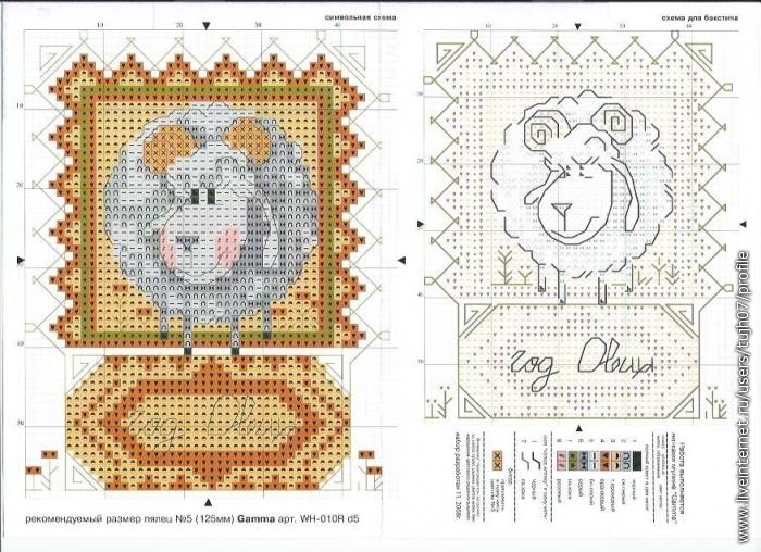 Схема года Овцы