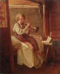H Roger, Musizierender Knabe. Wohl um 1840- 1850