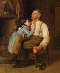 JOHN GEORGE BROWN, American (1831 - 1913), Grandpa loves Butter