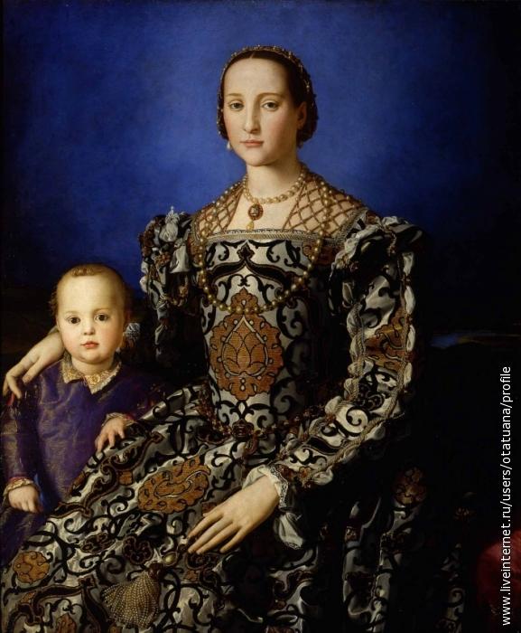 Элеонора Толедская с сыном Джовани,портретАньоло Бронзино