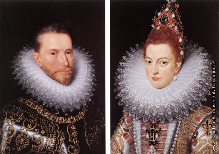 POURBUS, Frans the Younger. Archdukes Albert and Isabella
