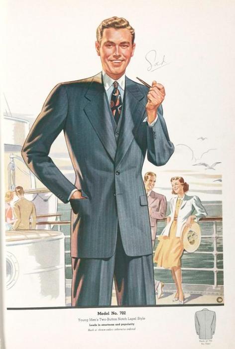 Мода 30 годов мужчины