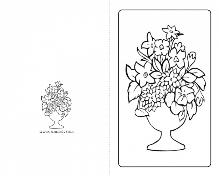 раскраски открытки: