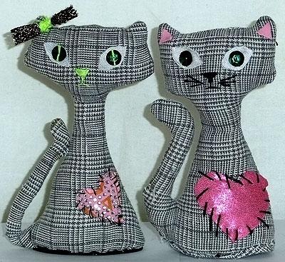 Новогодние игрушки из ткани своими руками фото