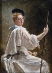 Lady With A Staff - Gustave Jean Jacquet
