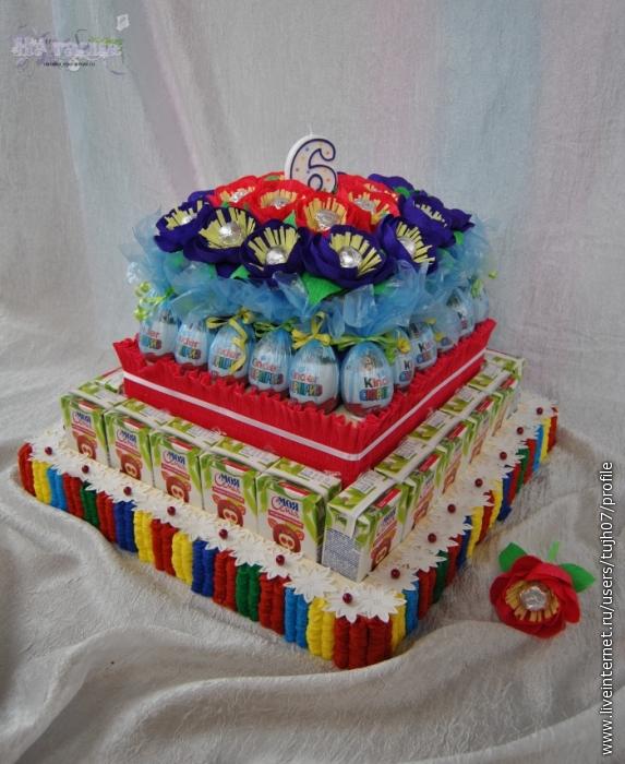 Торт из сока и конфет своими руками