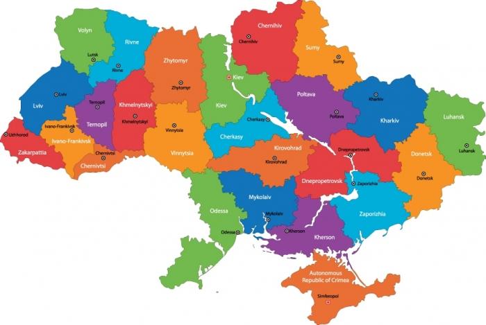 Карта украины самое интересное в