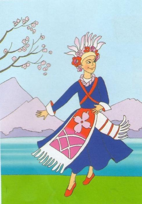 Раскраска народные танцы