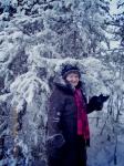 В лесу выпал снег