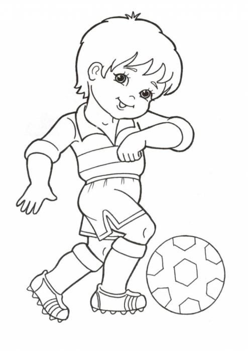 Раскраски детям футбол