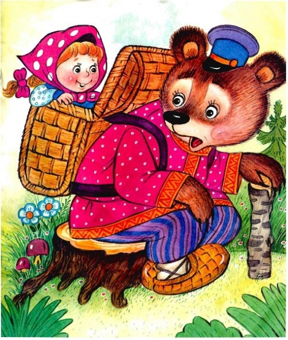 картинки маша и медведь сказка русская народная