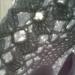 фрагмент вязаного берета из хлопка крючком