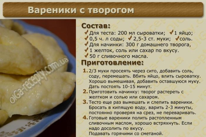 Тесто для вареников с вишней рецепт