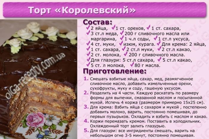 Самый лучший рецепт торта в домашних условиях