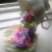 летящая чашка- ленточные цветы