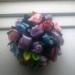 шарик из розочек (розы выполнены из лент)