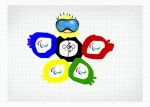 Олимпион. В основе персонажа лежат олимпийские кольца,изображённые в виде частей тела!=) Автор: Артём Есин.