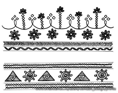 орнаменты татарской вышивки -