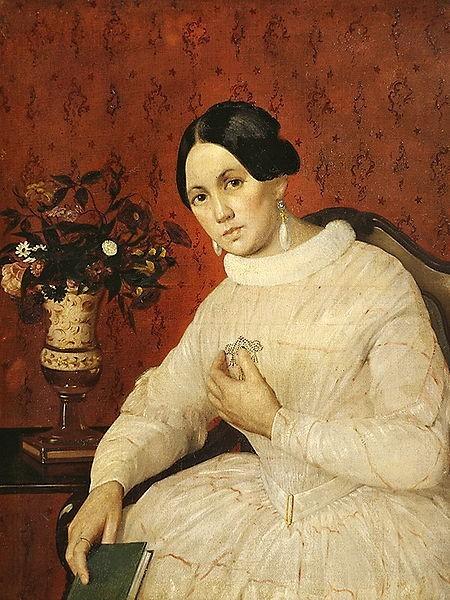Портрет неизвестной в белом платье.