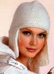 В моде женские вязаные тёплые шапки выполненные спицами разных фасонов - вязаная шапка-ушанка, с помпонами...