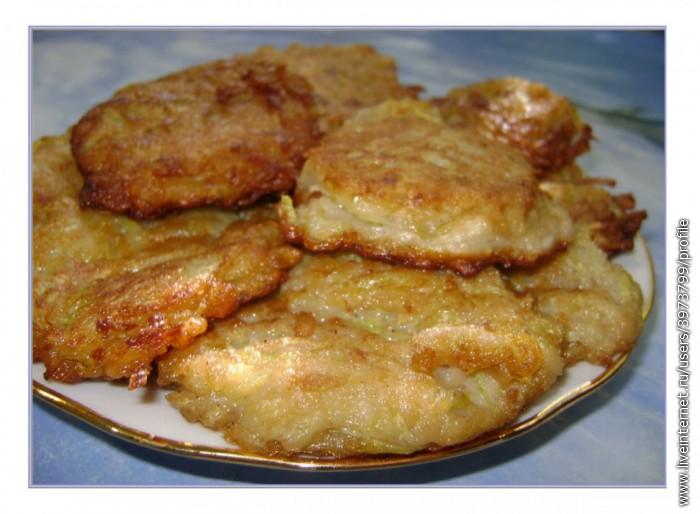 Рецепт сладких оладьев из кабачков