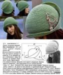 Продолжаю пополнять коллекцию вязаных модных шапок.