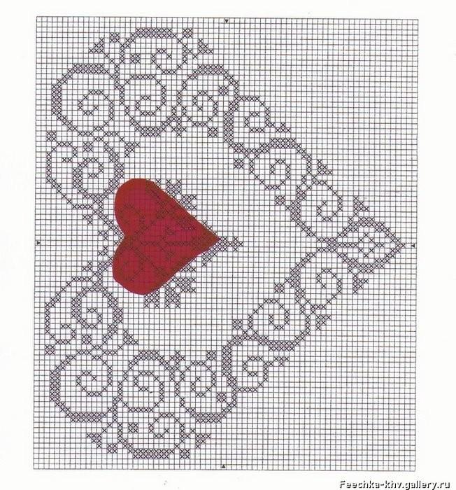 Мое сердечко схема вышивки 182