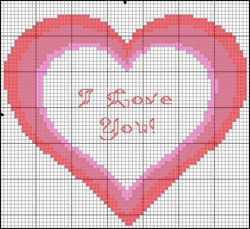 Сердце рисунок для вышивки