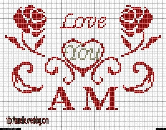 вышивка крестом любовь схема скачать