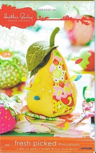 фрукты-игольницы 2279346_heather_bailey-fresh_picked_pincushion