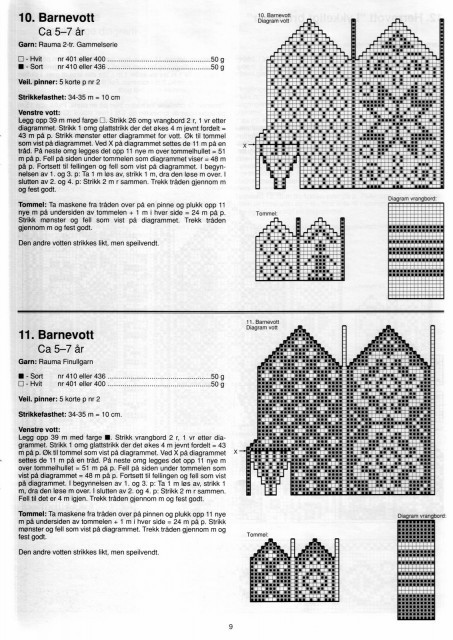 gift prresents:knitting pattern for mittens, kids craft ideas - crafts ideas ...