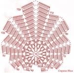 Схема кленового листа крючком.  Прочитать целикомВ.