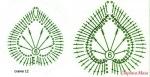 Описание: Вязаные крючком листья.  Часть 2.