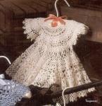 Вязание крючком: Детские платья.  Вязание детских платьев спицами.