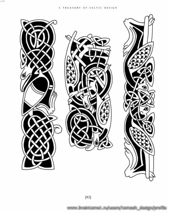 Кельтская, детские узоры спицами с описанием и славянские узоры тату.