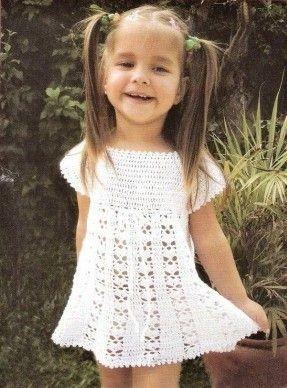 детские платья вязанные крючком со схемами, вязаные детские платья крючком со схемами, вязаные платья крючком для...