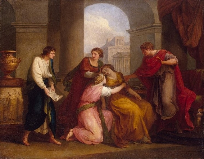 Virgil reading the Aeneid to Augustus and Octavia 1788