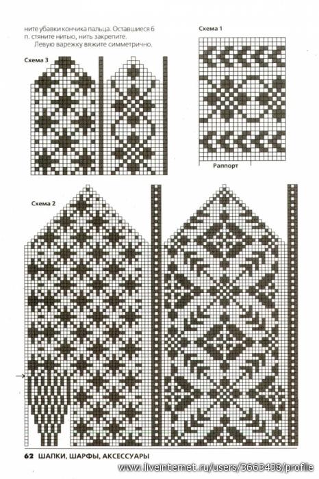 варежки с рисунком: