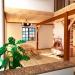 Интерьер дома из соломенных блоков