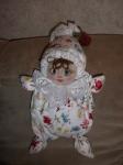 это моя первая кукла-бабочка. Правда, получилась маленькой на вид, хотя 33 см .