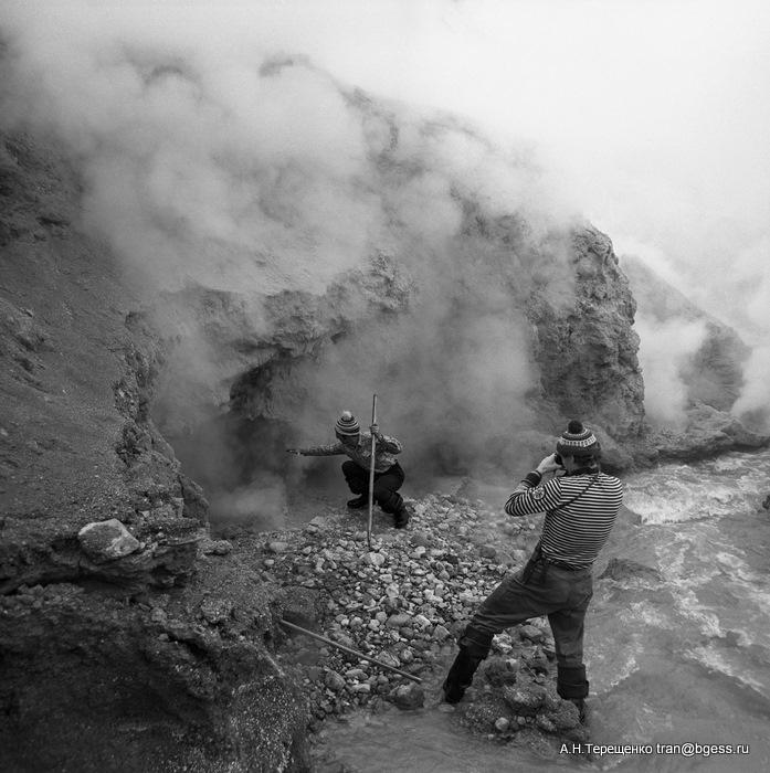 В кратере Мутновского вулкана