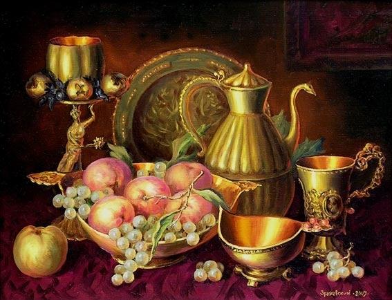 Натюрморт с гроздью винограда