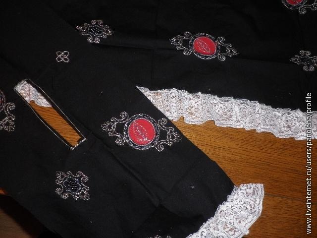 ОБработать горловину верхней детали платья.