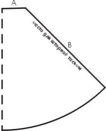 концом первой складки.Зная длину карниза, вы вычитаете из нее длину драпировочной ленты в готовом состоянии (дважды! - сторон-то две). Остаток – и есть сторона А.