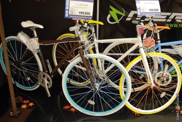 Японские велосипеды. Помните ржавых чудищ на первых отчетах? Вот такие они, видимо, в магазинах