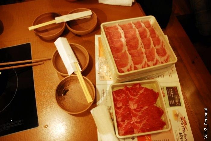 Мы успели на ужин. Ужинаем корейским блюдом